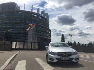 chauffeur VTC Parlement européen Alsace